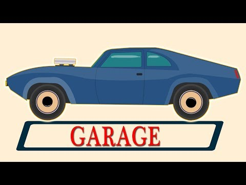 Muscle car | Car Repair Garage Video For Kids