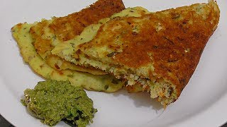 mixed vegetable uthappam with idly batter/ best breakfast for kids/tasty & crispy uthappam