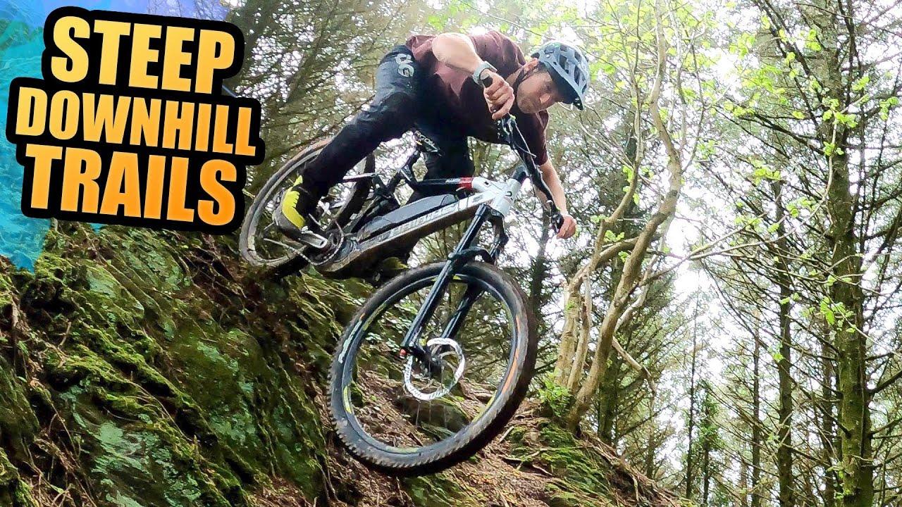 RIDING AND SLIDING DOWN STEEP MTB DOWNHILL TRAILS - ROAD TRIP EP3