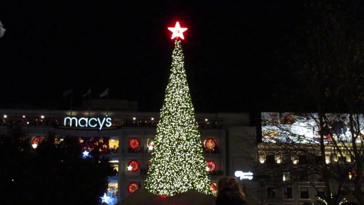 Tree Lighting Ceremony Union Square San Francisco California 2016