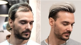 Silver Platinum Hairstyle for Men | Transformation With Hair System | Hairsystems Heydecke