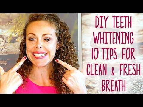 10 Teeth & Whitening Tips! How to Whiten At Home Naturally, DIY Natural Toothpaste Recipes