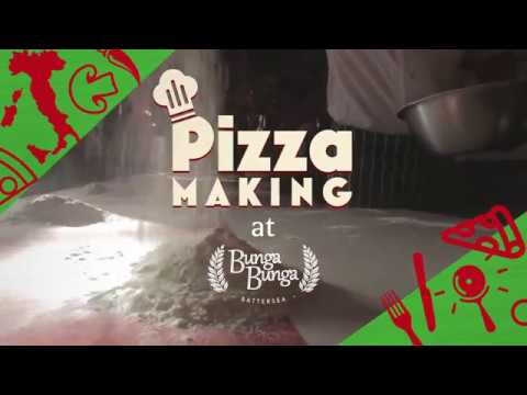 Video of Pizza Making Class with Cocktail for Two at Bunga Bunga, Battersea