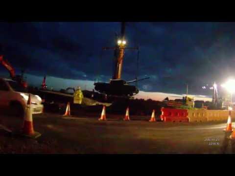 Moving the Flensburg Way Tank - 23 May 2016 - City Deal
