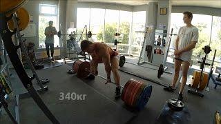Становая тяга 340 и тренировка спины. Бодибилдинг, пауэрлифтинг.(, 2016-07-15T05:10:28.000Z)