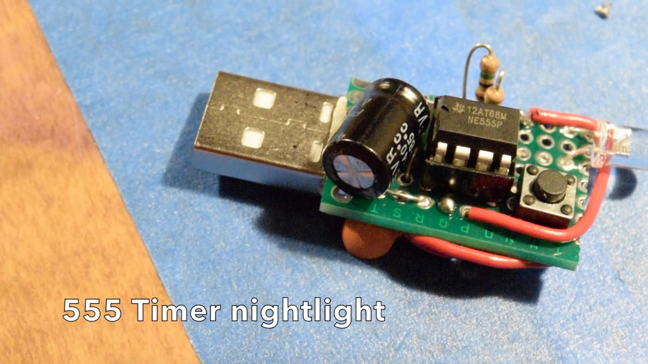 555 Timer nightlight - a simple electronics project - YouTube