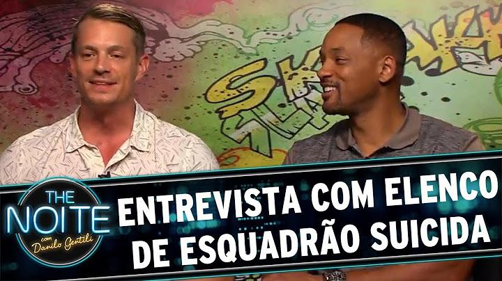 the noite 050816  entrevista com elenco de esquadro suicida