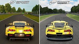 Gran Turismo Sport vs Forza Motorsport 7 Comparison | Corvette C7 Brands Hatch @ 1440p (60ᶠᵖˢ) ✔
