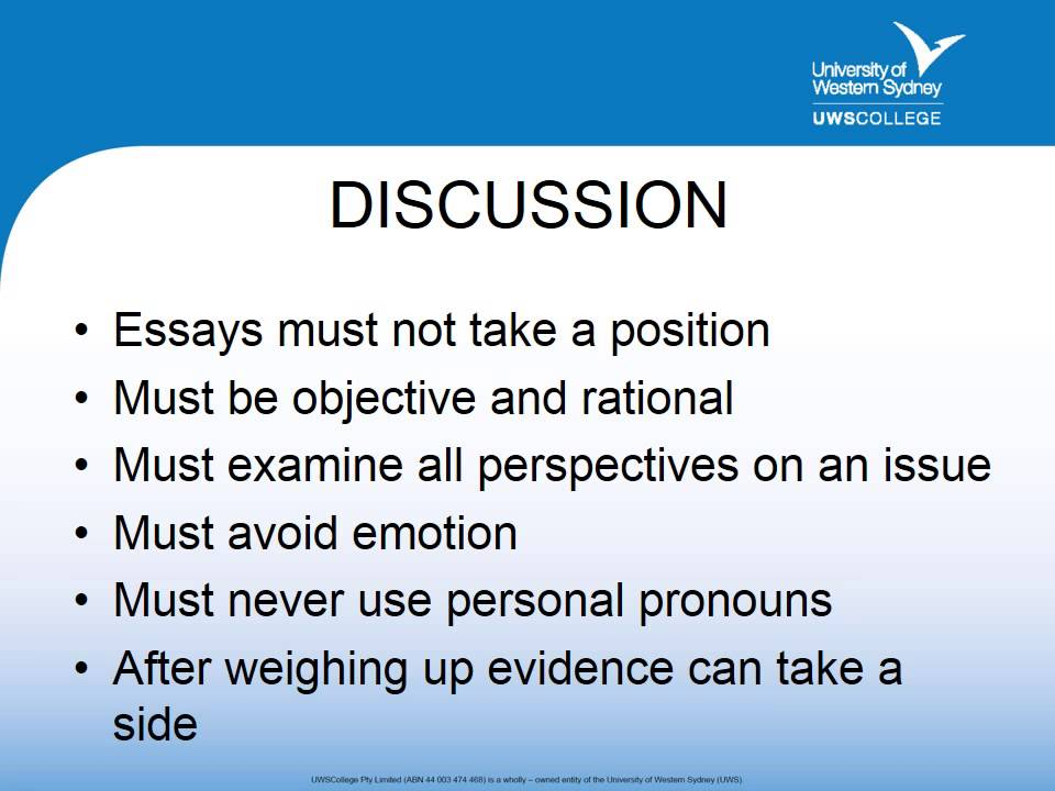types of essay video