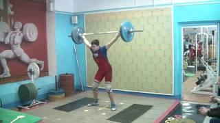 Мезенцев Алексей, 13 лет, вк 69 Рывое 65 кг