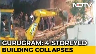 5 Trapped After Four-Storey Building Collapses In Gurugram, Rescue On