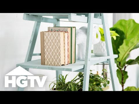 Turn an Old Ladder Into a Stylish Shelf - HGTV Happy