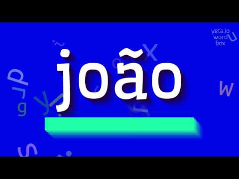"How to say ""joão""! (High Quality Voices)"