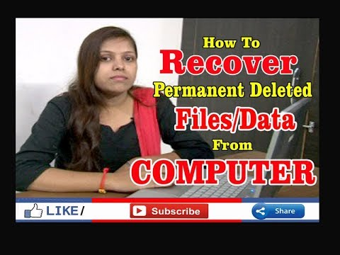 how to get deleted data from computer