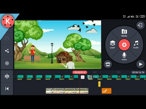 How To Make Cartoon Animation Video On Android  In Kinemaster    In Hindi