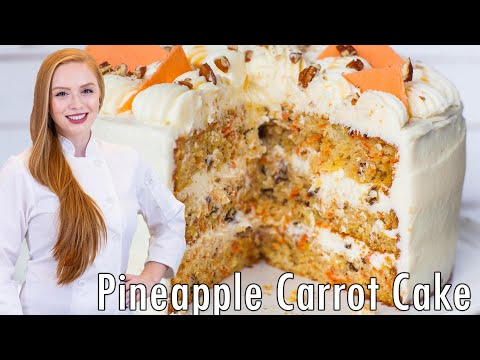 Pineapple Carrot Cake Recipe - Super Moist And Delicious