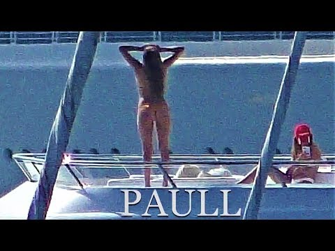 Sylvester Stallone and Co Holidaying on The Mega Yacht - Ant