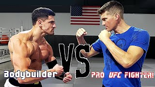 Fighting Pro UFC Fighter Stephen Wonderboy Thompson *ENDS POORLY* | Bodybuilder vs MMA Challenge