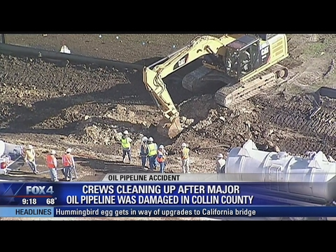 Collin County Oil Pipeline Rupture