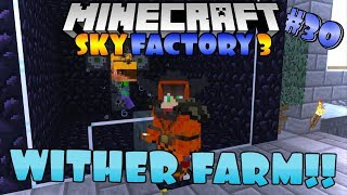 WITHER BOSS FARM IMUT - Minecraft Skyfactory 3 #30