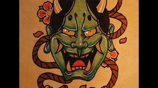 How to Draw a Hannya Mask Front View