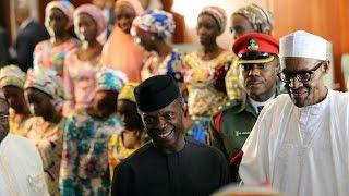 82 released Chibok Girls meet Nigeria's Buhari in Abuja