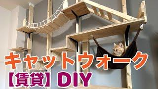 【DIY】賃貸でキャットウォーク作ってみた  I made a catwalk!!