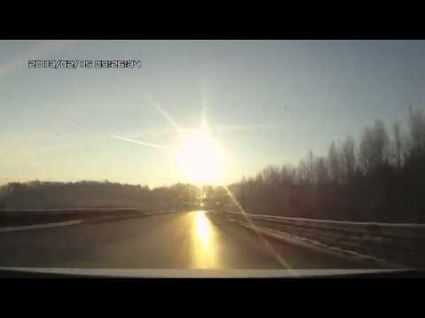 Жесть! Взрыв метеорита над Челябинском! Meteorite fall