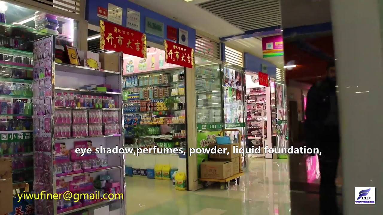 Cosmetics,wig,makeup,lipstick Wholesale Market in China YiWu