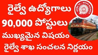 Railway jobs 90,000 latest good news in 2018 || RRB Job Notification update in 2018
