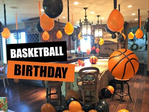 decorating for basketball birthday party youtube