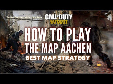 COD WW2: HOW TO PLAY THE MAP AACHEN | BEST MAP STRATEGY