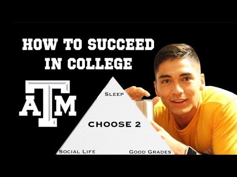How to Succeed in College Advice from Texas AM - YouTube