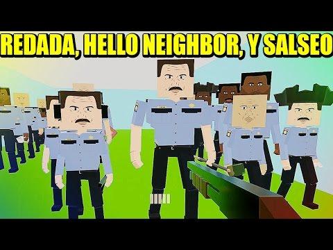 REDADA DIFÍCIL , HELLO NEIGHBOR FÁCIL - PAINT THE TOWN RED | Gameplay Español