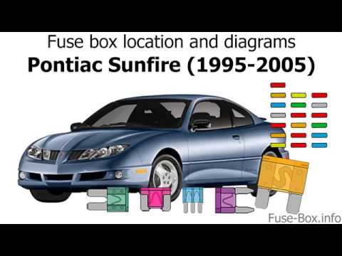fuse box location and diagrams: pontiac sunfire (1995-2005)