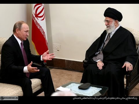 President Putin of Russia meets Ayatollah Ali Khamenei  23 Nov 2015