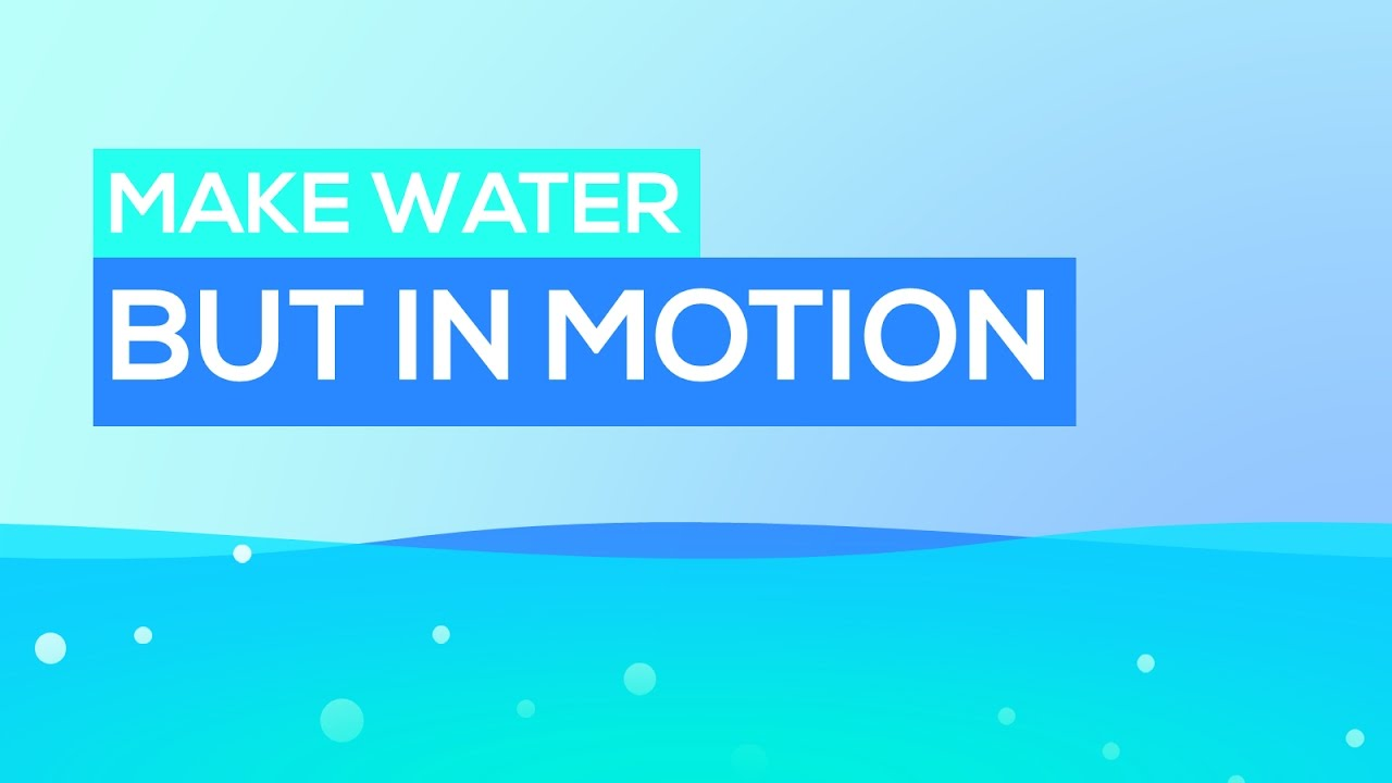 somewhat narrated flowing water effect in powerpoint motion