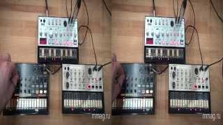 mmag.ru: Синтезаторы Korg Volca Bass, Beats и Keys - 3d видео обзор и демо