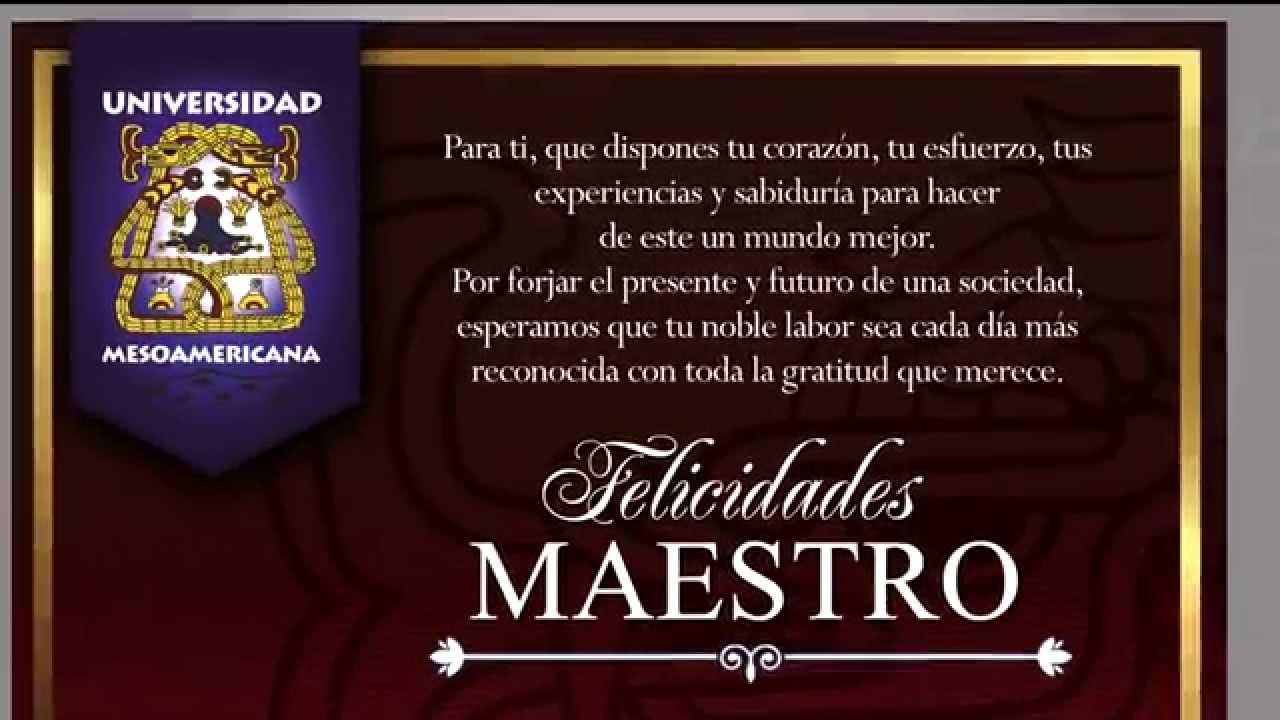 Invitación Día Del Maestro Uma 2014 Youtube