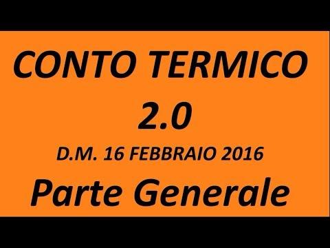 Conto Termico 2.0 - Parte Generale 2017