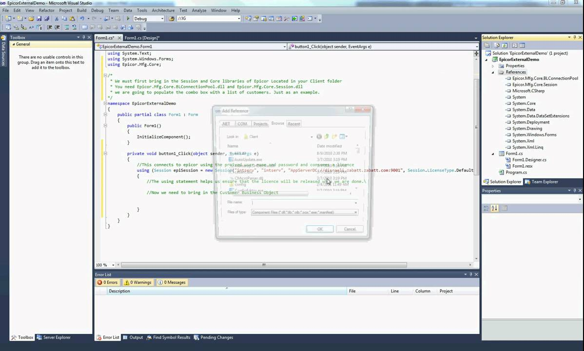 how to connect to tfs from visual studio 2010