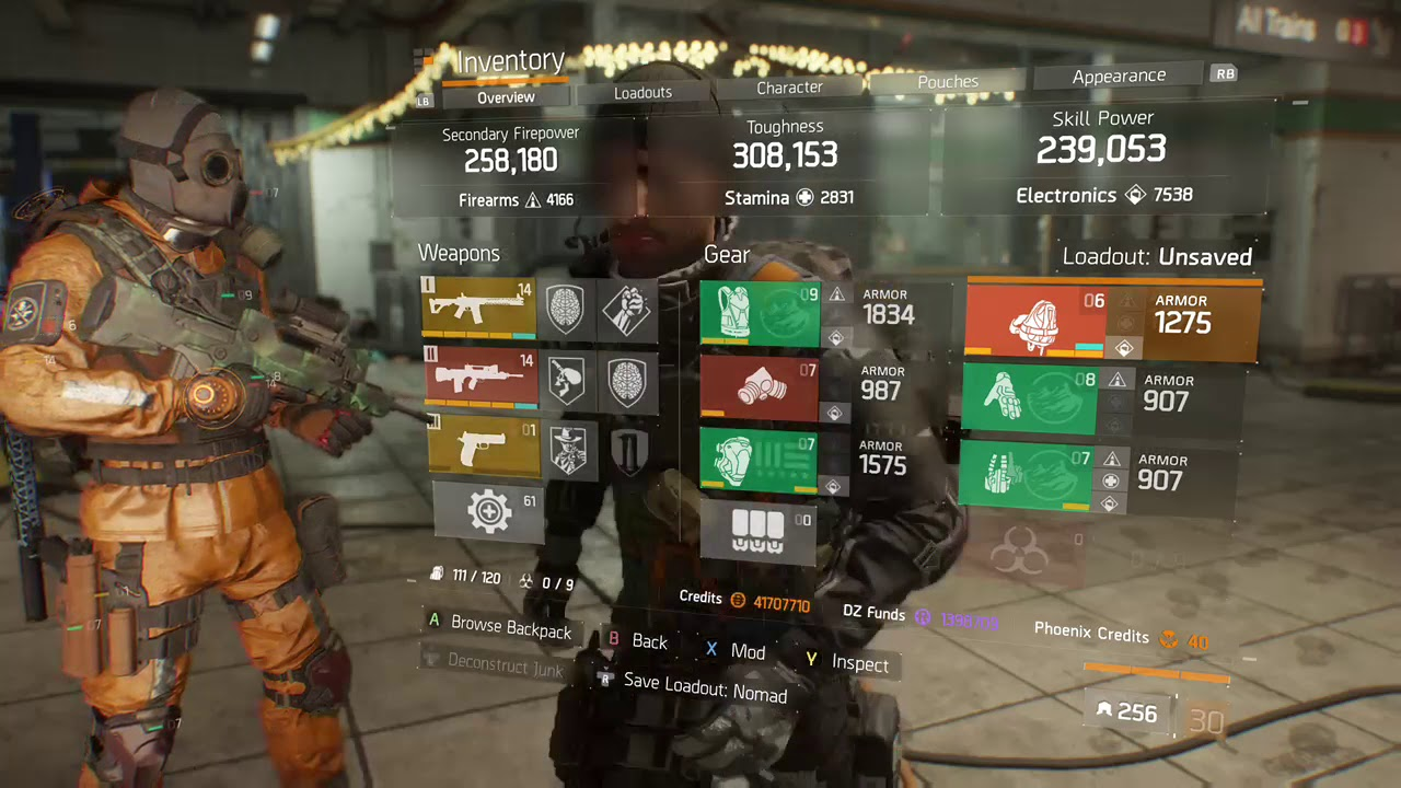 the division how to make a build
