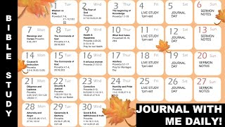 MONTHLY BIBLE STUDY PLAN/INCLUDES 10 DAILY JOURNAL PROMPTS