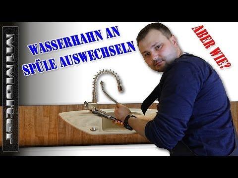 Wasserhahn an der Spüle auswechseln von M1Molter - YouTube