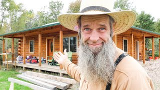 Mom's LOG HOME Batнroom is DONE! DAY 83 complete bathroom video