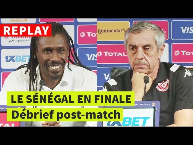 REPLAY - CAN-2019 | Sénégal-Tunisie: conférence de presse post-match de Cissé et Giresse