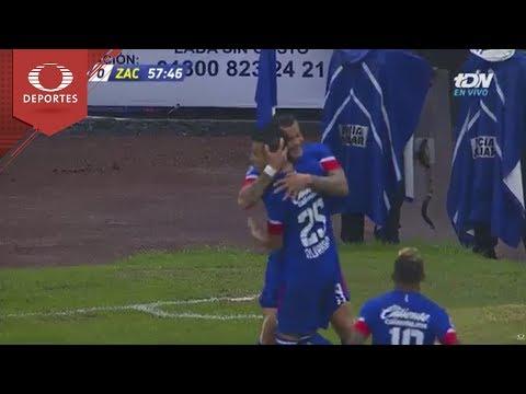 Gol de Caraglio   Cruz Azul 1 - 0 Zacatepec   Copa Mx J-4   Televisa Deportes
