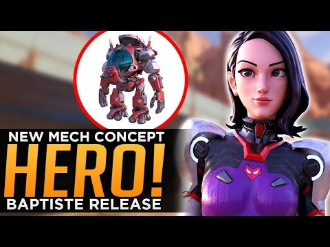 Overwatch: Baptiste Release Date! - NEW Mech Hero Concept! thumbnail