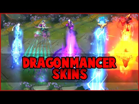DRAGONMANCERS Lee Sin, Ashe, Brand, Aurelion Sol, Sett (League of Legends)