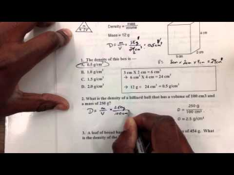 Examples Of Density Problems Youtube